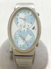 クォーツ腕時計/アナログ/ステンレス/WHT/SLV/Y150-5M60
