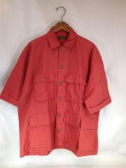 半袖シャツ/L/リネン/RED19-051-470-6030-1-0