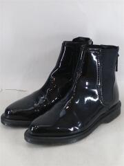 ZILLOW チェルシー ブーツ/サイドゴアブーツ/UK4/BLK/エナメル/24774001