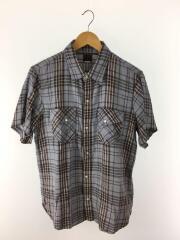 半袖シャツ/XL/コットン/GRY/チェック