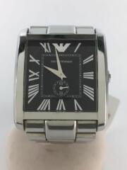クォーツ腕時計/アナログ/ステンレス/BLK/AR-1642