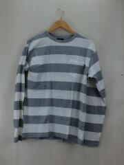 ステューシー/長袖Tシャツ/L/コットン/GRY/無地