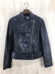 Gluon Biker Slim Jacket/ダブルライダースジャケット/S/羊革/ブラック