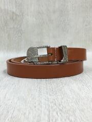 19ss/Cowboy Boots Belt/カウボーイブーツベルト/W34/レザー/ブラウン/茶色