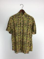 17SS/グラフィックシャツ/15.5/レーヨン/YLW/総柄