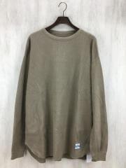 ×ARMY TWILL/別注ロングワッフルTシャツ/L/コットン/BRW/タグ付