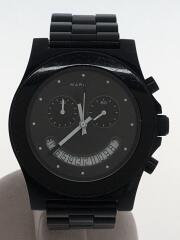 クォーツ腕時計/アナログ/BLK/BLK/741501