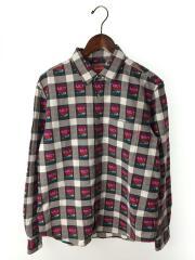 19SS/Rose Buffalo Plaid Shirt/長袖シャツ/S/コットン/ブラックxホワイト/チェック