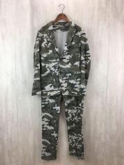 CAMOUFLAGE JERSEY 2 BUTTON UNCON JACKET/PANT/セットアップ/L/コットン