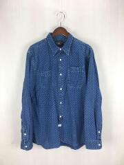 JACK RABBIT POLKA DOT WORK SHIRTS/L/コットン/IDG