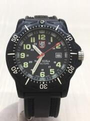 クォーツ腕時計/Navyseals/8800/※ベゼルキズ有/アナログ/ラバー/BLK/BLK