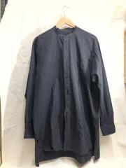 コモリ/Q03-02002/バンドカラーシャツ/長袖シャツ/3/コットン/ブラック