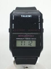 taking watch/クォーツ腕時計/デジタル/ラバー/BLK/BLK