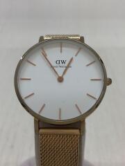クォーツ腕時計/classic B32R13/アナログ/WHT/GLD