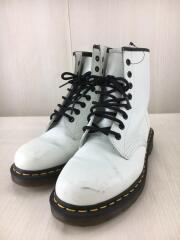 8HOLE BOOTS/ブーツ/UK7/WHT/レザー/1460
