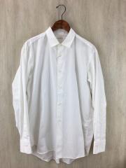 ブロードオーバーサイズシャツ/長袖シャツ/40/コットン/WHT/ヨゴレ有/5118-31428