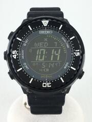 PROSPEX/フィールドマスター/ソーラー腕時計/デジタル/ラバー/BLK/S802-00K0