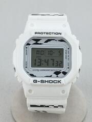 ×FACETASM/G-SHOCK/クォーツ腕時計/デジタル/ラバー/WHT/DW-5600VT