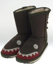 Little Creatures Croc/キッズ靴/18cm/ブーツ/スウェード/KHK/K10588