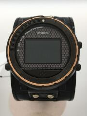 ×WIRED/ソーラー腕時計/デジタル/BLK/W360-DA-OAFO
