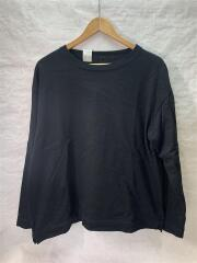 CREW NECK LONG SLEEVECOMMEN/長袖Tシャツ/36/コットン/BLK/20 RCH