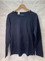 CREW NECK LONG SLEEVECOMMEN/長袖Tシャツ/36/コットン/NVY/20 RCH