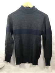 ×BEAMS+/16AW/シームレスナバールセーター/セーター(厚手)/36/ウール/GRY