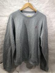 ランニングマン刺繍/スウェット/M/コットン/GRY