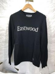 eastwood.Classic Crew/W-Knit.LS/セーター/M/ウール/BLK/NTNH-KN-MO2