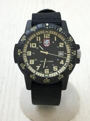 SEA TURTLE GIANT SERIES/クォーツ腕時計/アナログ/BLK/BLK