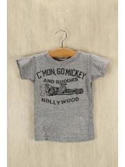 半袖シャツ/110cm/コットン/GRY/Tシャツ/アメカジ/灰色/子供服/HOLLYWQOD