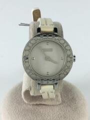 クォーツ腕時計/アナログ/レザー/WHT/CRM/ca.25.7.14.0424/ラウンドウォレット