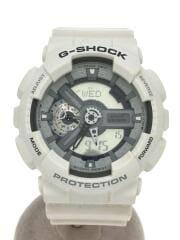 G-SHOCK/クォーツ腕時計/デジタル/ラバー/シルバー/ホワイト/GA-110C