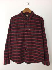 COOTIE/ネルシャツ/M/コットン/RED/ボーダー