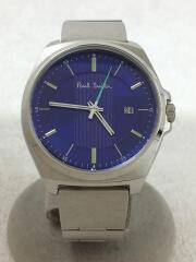クォーツ腕時計/アナログ/ステンレス/BLU