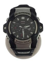 ソーラー腕時計・G-SHOCK/アナログ/BLK/キズ有