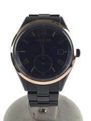 クォーツ腕時計/アナログ/ステンレス/NVY/BLK