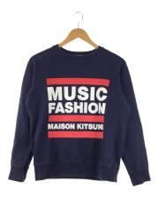 MUSIC FASHION/スウェット/XS/コットン/NVY/無地