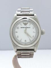 クォーツ腕時計/アナログ/ステンレス/WHT/SLV/AR-5001