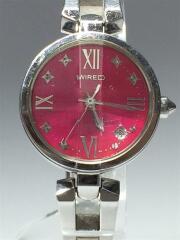 クォーツ腕時計/アナログ/ステンレス/ピンク/シルバー/7N82-0EF0