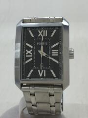 クォーツ腕時計/ステンレス/BLK/SLV