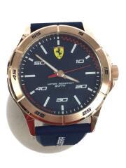 Scuderia Ferrari/クォーツ腕時計/アナログ/ラバー/NVY