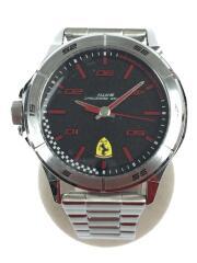 Scuderia Ferrari/クォーツ腕時計/アナログ/ステンレス/BLK
