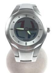 クォーツ腕時計/デジアナ/ステンレス/SLV/SLV