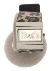クォーツ腕時計/アナログ/レザー/SLV/BEG