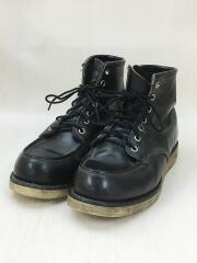 レッドウイング/ブーツ/US7.5/25.5cm/ブラック/レザー