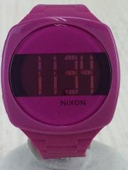 ニクソン/クォーツ腕時計/デジタル/ラバー/ピンク/ピンク