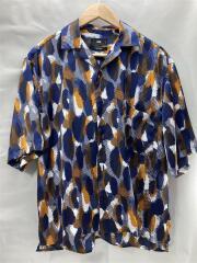 半袖シャツ/S/--/マルチカラー/総柄/開襟/オープンカラー/ビッグシルエット