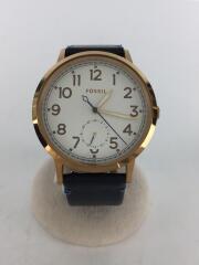 クォーツ腕時計/アナログ/レザー/WHT/NVY/W)EVERYDAY MUSE/ES4062