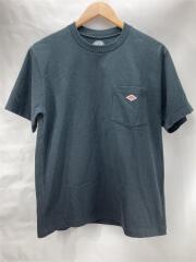 Tシャツ/コットン/BLK/ポケットT/ロゴT